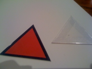 Front and back of triangles
