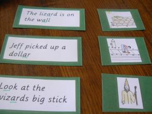 Sentence strips