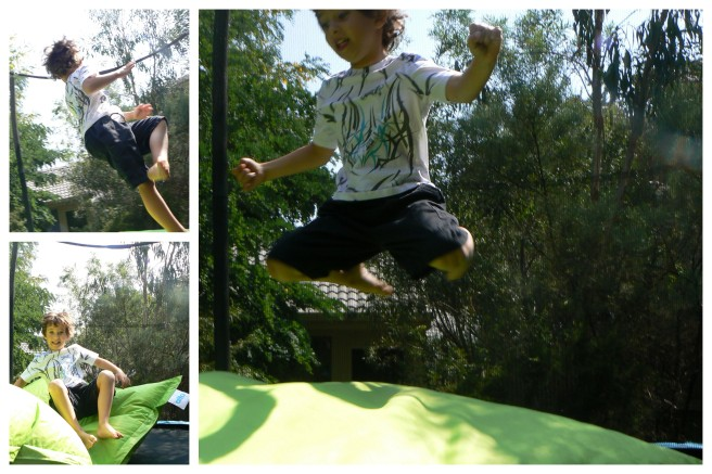 trampolining away