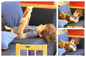 Izaac reading